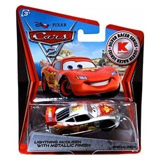 Disney Pixar CARS 2 Exclusive 155 Die Cast Car SILVER RACER Lightning