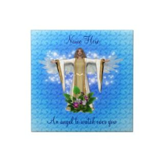 Guardian Angel Art Inspirational Tile