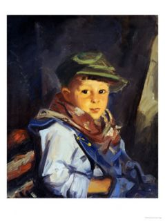 Boy with Green Cap (Chico), 1922 Giclee Print by Robert Henri