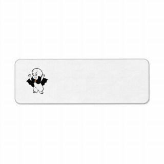 Casper Dracula Costume Custom Return Address Labels