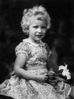 Princess Anne, Daughter of Queen Elizabeth II, on Her Fourth Birthday, August 15, 1954 Posters
