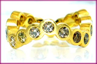 80 ct Memory Memoire RUNDUM Brillant RING 750 GOLD