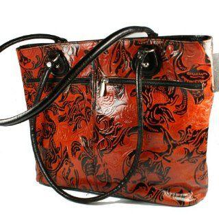 HydeStyle Shanti Damen Tasche aus Leder  mit Braun Schwarzem