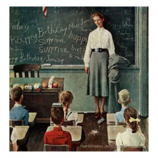 Happy Birthday, Miss Jones, March 17,1956 Giclee Print by Norman Rockwell