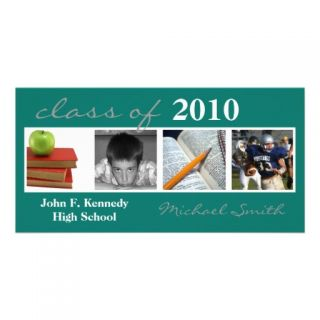 Class Of 2010 Invitiation/Announcement Quad Photo Photo Greeting Card