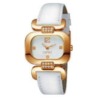 Esprit Damen Armbanduhr Charming Dear Gold Weiß ES101992007