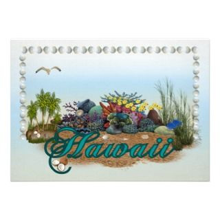 Hawaii island custom invitation