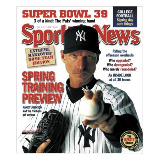Sporting News Magazine February 18, 2005   Spring Training Preview   Randy Johnson and the Yanke… Posters