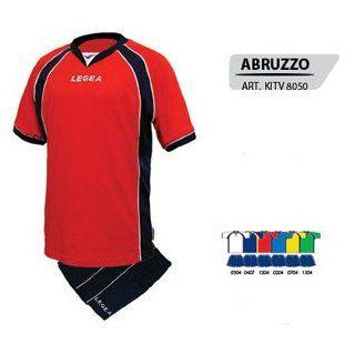 Legea Volleyball Trikot Kit Abruzzo Shirt+Short weiss/navy, Größe