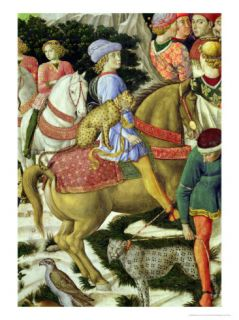 Portrait of Giuliano DeMedici, Detail from the Journey of the Magi Cycle in the Chapel, circa 1460 Giclee Print by Benozzo di Lese di Sandro Gozzoli