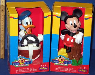 Donald Duck + Micky Maus 2 x Spardose Walt Disney OVP Just toys