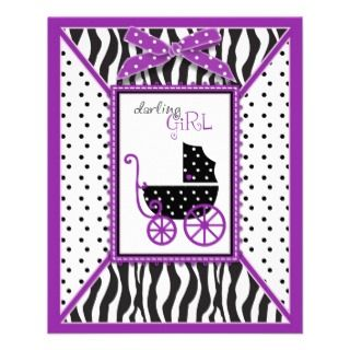 Boutique Chic Violet Advice Card Personalized Flyer
