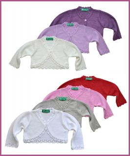 Bolero, Strickjacke 902 in Gr.80,86,92,98,104,110,116,122 und 128