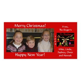 Merry Christmas & New Year Photo Greeting Card