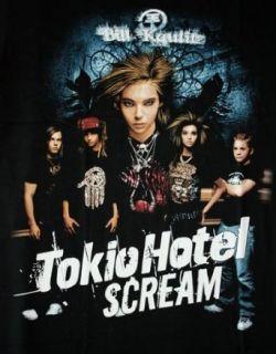 Tokio Hotel SCREAM mit Gold folien Druck T Shirt Gr. L