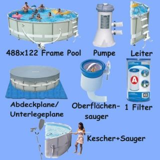 Intex Ultra Frame Pool Komplett Set 488x122 Nr.54452
