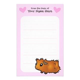 Guinea Pig Love (scruffy) Stationery