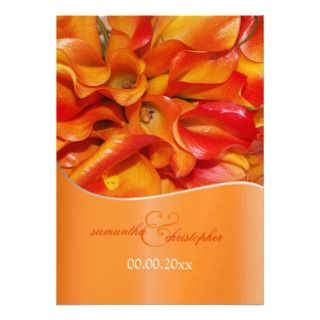 burnt orange calla lily Personalized Announcement