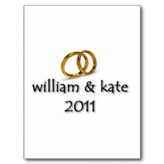 Prince William & Kates Wedding 2011 Post Cards