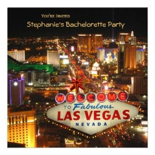 Pink Las Vegas Bachelorette Party Invitation