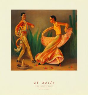 El Baile Art by Paul Valentine Lantz