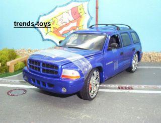 ERTL 00921 118 2000 Dodge Durango SLAMMED blau