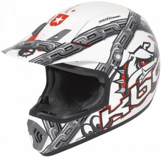 KBC Cross Helm DRT X Mad Dog white multi   M