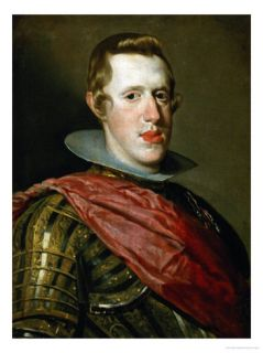 Philip IV (1621 1665) in Armour with Generals Sash Giclee Print by Diego Velázquez