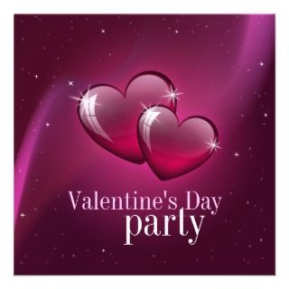 Candy Hearts   Valentines Day party invitation