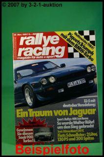 Rallye Racing 11/83 Jaguar XJ S Fiat Ritmo Abarth 130