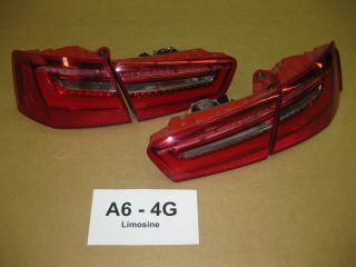 Audi A6 4G C7 Limosine Limo LED Rückleuchten 4 Teilig Bremsleuchten
