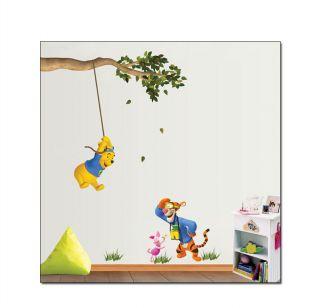 Winnie Pooh & Tigger Wandtattoo Kinderzimmer Wandaufkleber Wandsticker