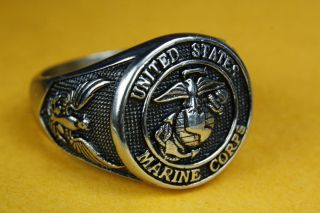 US NAVY UNITED STATES MARINE CORPS SIEGELRING HERRENRING 137