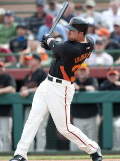 Arizona Diamondbacks v San Francisco Giants, SCOTTSDALE, AZ   FEBRUARY 25: Travis Ishikawa Photographic Print by Rob Tringali