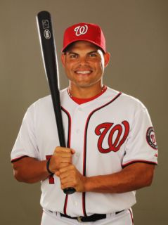 Washington Nationals Photo Day, VIERA, FL   FEBRUARY 25: Ivan Rodriguez Photographic Print by Al Bello