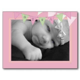 Baby Birth Announcement Banner Photo Postcard