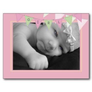 Baby Birth Announcement Banner Photo Postcard