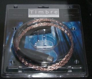 Kable Timbre Audio Interconnects 1 meter XLR Balanced MSRP $140
