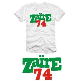 ZAIRE 74 Muhammad Ali T SHIRT rumble in the jungle weiss