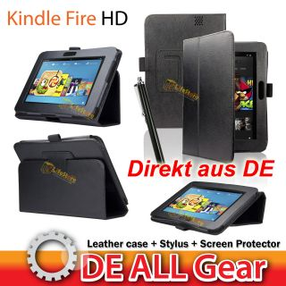 3in1 Leder Smart Cover  Kindle Fire HD 7 Tasche Case Etui Hülle