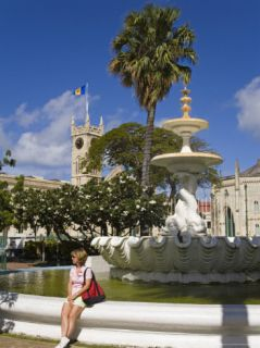 Fountain in Hero Square, Bridgetown, Barbados, West Indies, Caribbean, Central America Photographic Print by Richard Cummins