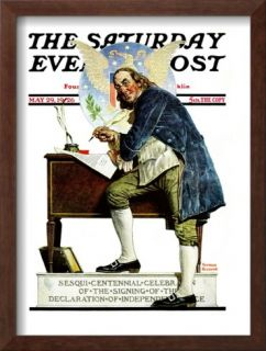 Independence or Ben Franklin Saturday Evening Post Cover, May 29,1926 Framed Giclee Print by Norman Rockwell