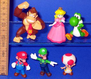 Super Mario Bros 6 x Figur Joshi Luigi Toad Peach