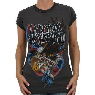 Lynyrd Skynyrd   Free Bird Amplified Band Girlie Shirt, vintage black
