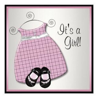 dress baby girl shower invitations pink black baby shower invitations