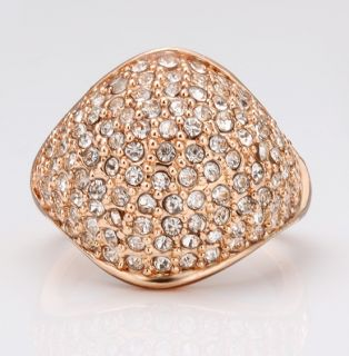 Goldschmuck Schmuck 750er 18K Rose Gold vergoldet Damen Zirkon Ring 18