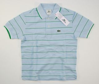 Neu Orig. LACOSTE Boy Polo Shirt Blau 10 / 140 146 Croc
