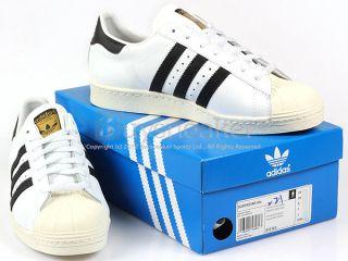 Adidas Superstar 80s White/Black/Chalk Classic Originals Trefoil 2012
