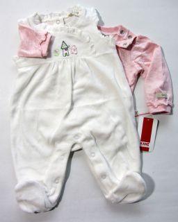 KANZ Set Strampler und Shirt Nicki Schloss creme Gr. 56   68 H/W 12/13