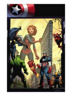 Marvel Adventures The Avengers #29 Cover: Captain Marvel Prints by Sean Murphy